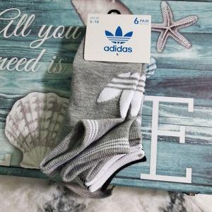 Adidas unisex 6 pair socks size 5-10